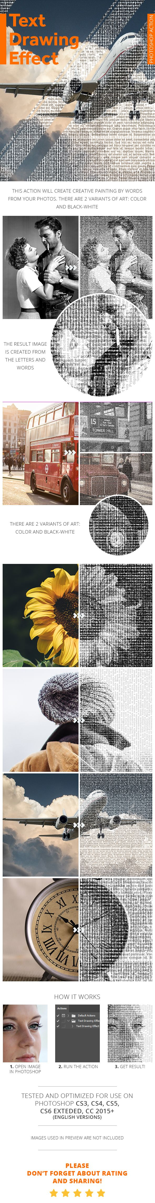 Text Drawing Effect - Photoshop Action - #Photo Effects #Actions Download here:  https://graphicriver.net/item/text-drawing-effect-photoshop-action/19279450?ref=alena994