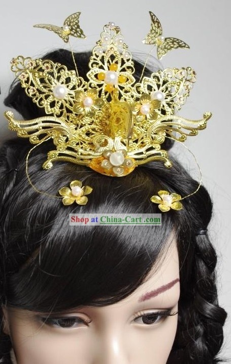 Chinese Classical Handmade Wedding Phoenix Hair Accessories for Brides