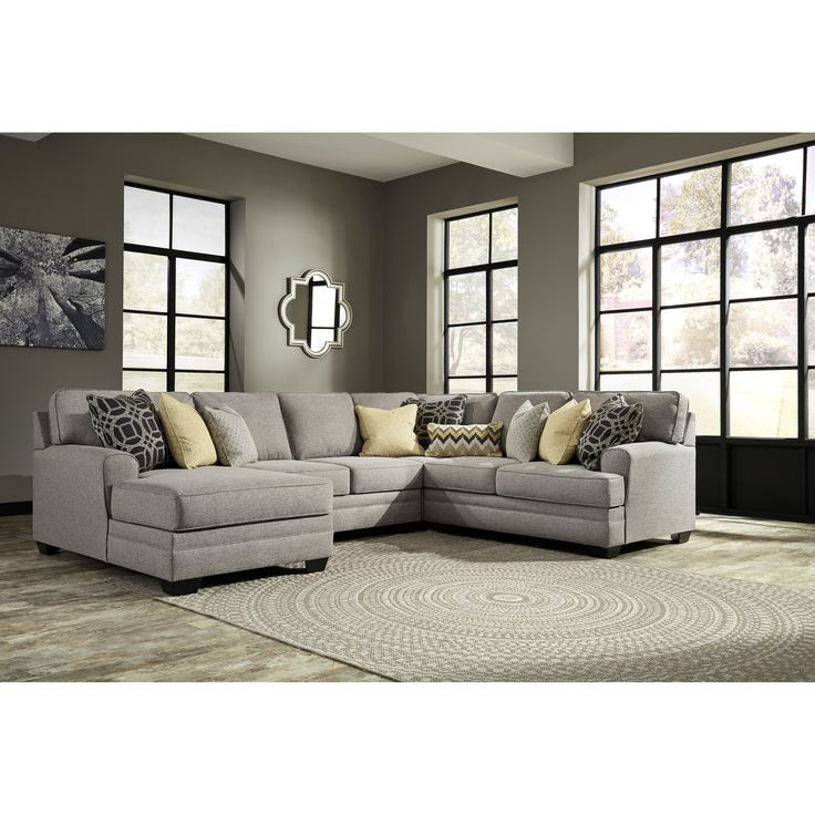 Contemporary 4 Piece Sectional With Chaise