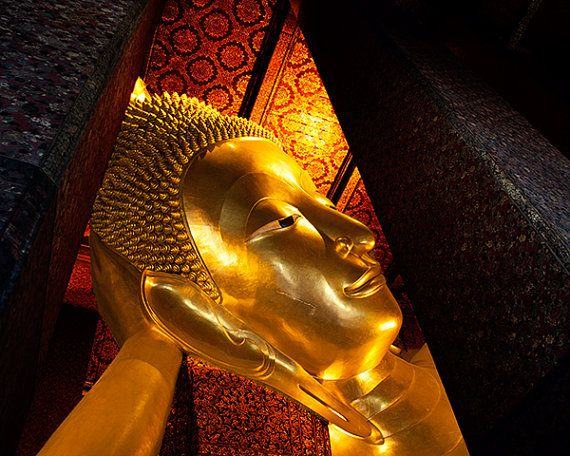 Reclining Buddha, Thailand, Buddhism, fine art photography, Asia, travel, home decor, 8x10, 12x12