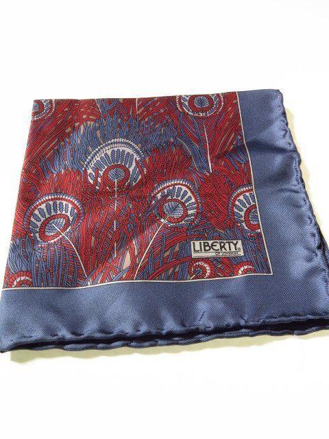 Liberty of London silk pocket square hand rolled - Tweedmans Vintage