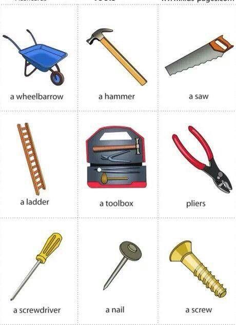 Vocabulario herramientas aula de ingl s pinterest - Herramientas de jardineria ...