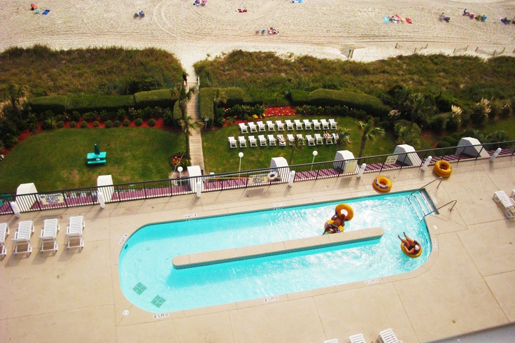 Grande Shores Ocean Resort has a great pool area where you can enjoy the beautiful Myrtle Beach sunshine!