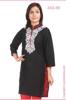 black long sleeve kurti