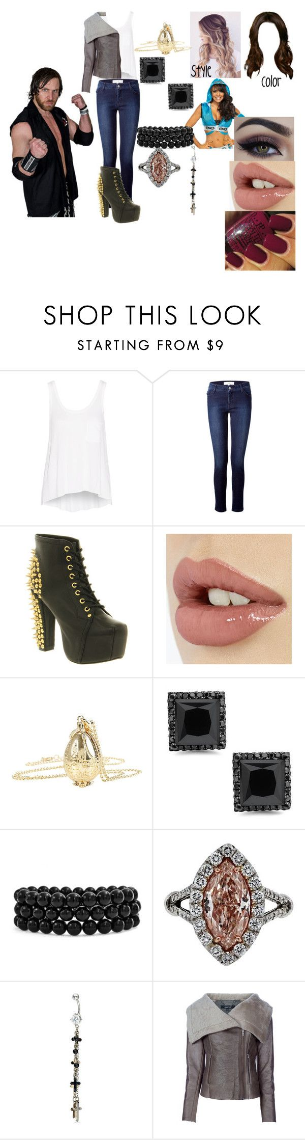 """""""The Viper Sister (Chris Sabin Love Story)"""" by anaeve ❤ liked on Polyvore featuring rag & bone, Vanessa Bruno Athé, Jeffrey Campbell, Bling Jewelry and MuuBaa"""
