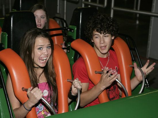 2007: In 2007, Miley Cyrus started to date Jonas Brothers heartthrob Nick Jonas. The pair reportedly had to keep their romance a secret so as not to anger their young tween fans. And look, she's been doing that tongue move way before the VMAs!