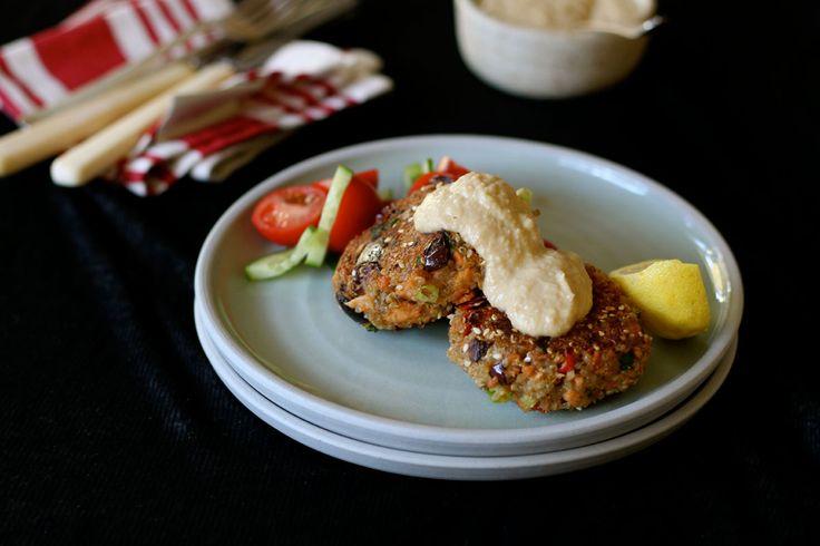 Mediterranean Inspired Salmon & Quinoa Fish Cakes