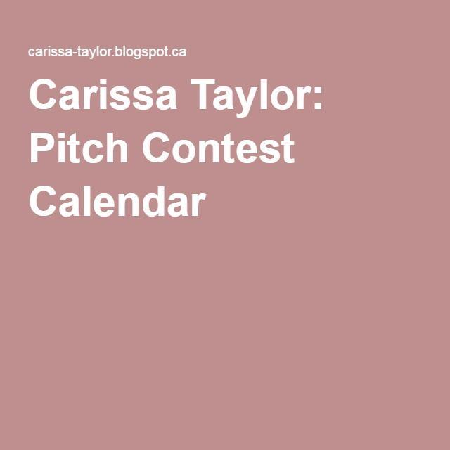 Carissa Taylor: Pitch Contest Calendar