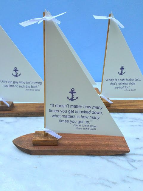Jac o' lyn Murphy: Boats Quotes - Sailboat Centerpieces