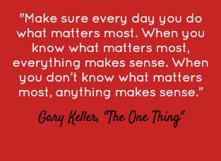 A little bit of Monday inspiration courtesy of Gary Keller! #KWRI