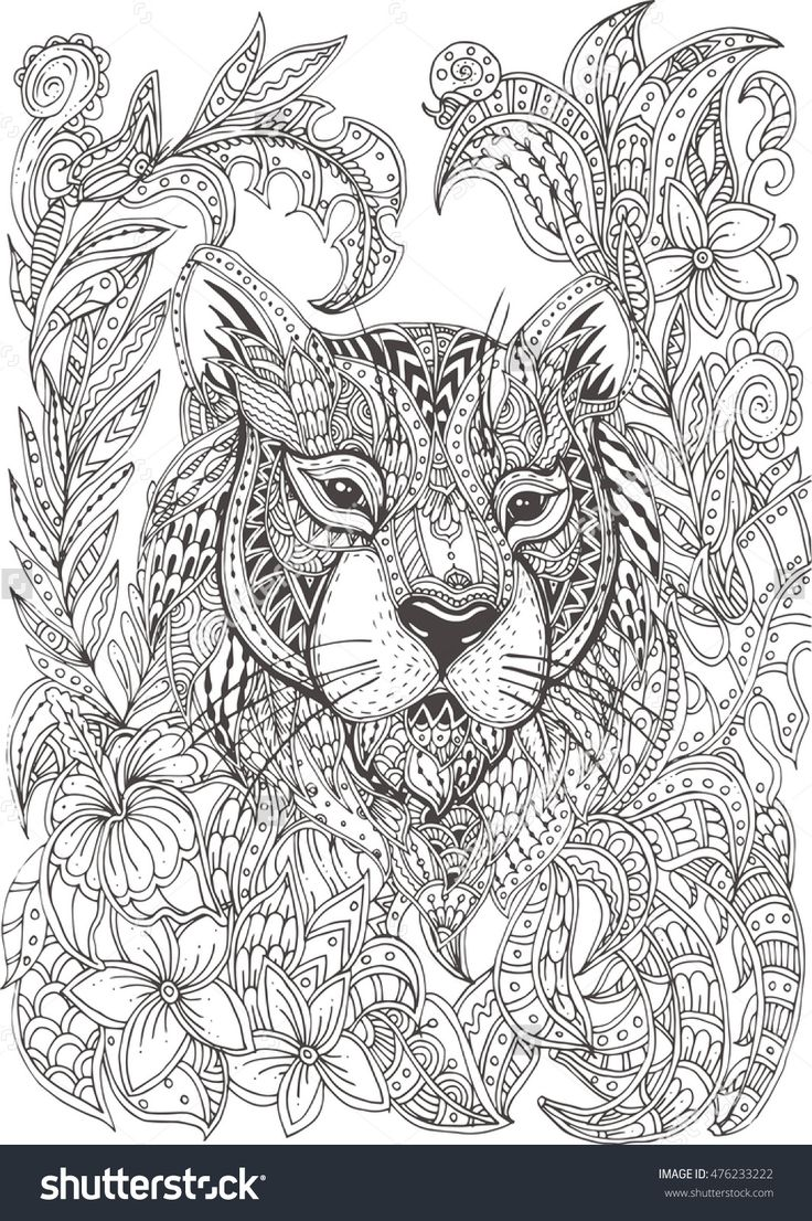 pattern animals coloring pages - photo#36