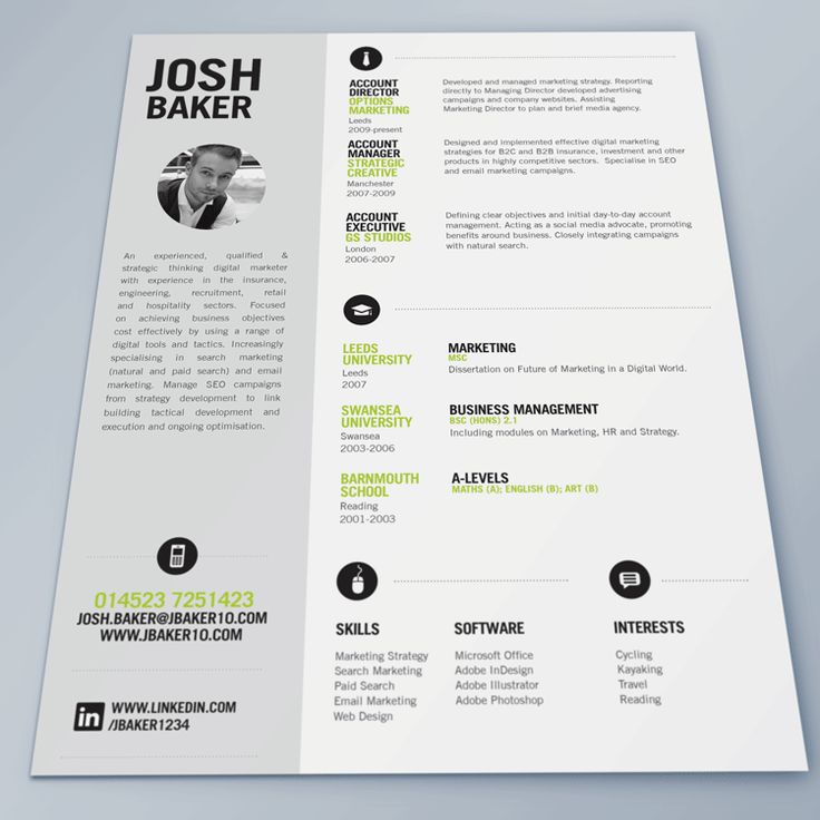 best resume cv template - Template