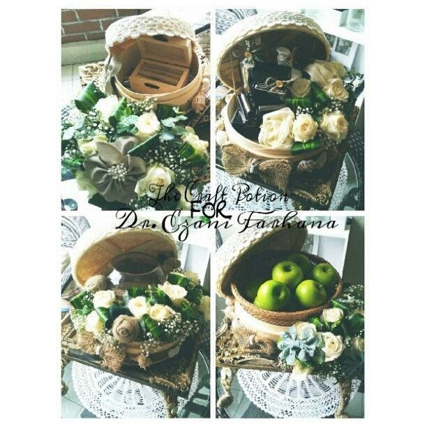 Wedding hantaran ~ The concept is vintage rustic and earthy. #thecraftpotion