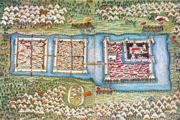 Ottoman miniature of the Siege of Szigetvár.
