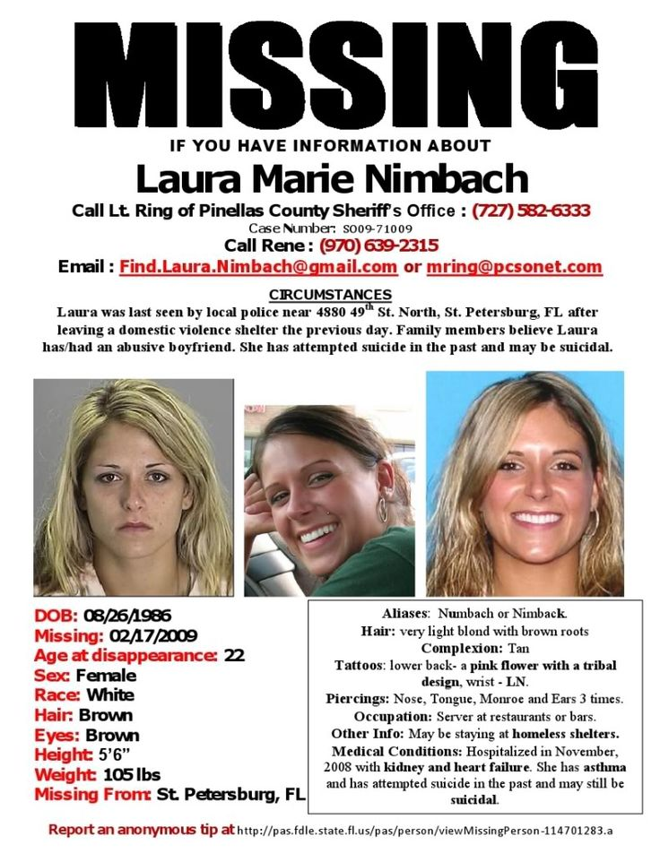 Nora Thomas u2013 Short Bowel Syndrome Survivor! » Blog Archive - missing person picture