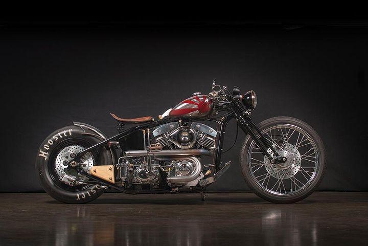 S&S Shovelhead Bobber Sub Zero - Gasolina. Una moto creada desde cero con el chasis de Zero Engineering, motor S&S Shovelhead y diseño con toques japoneses.