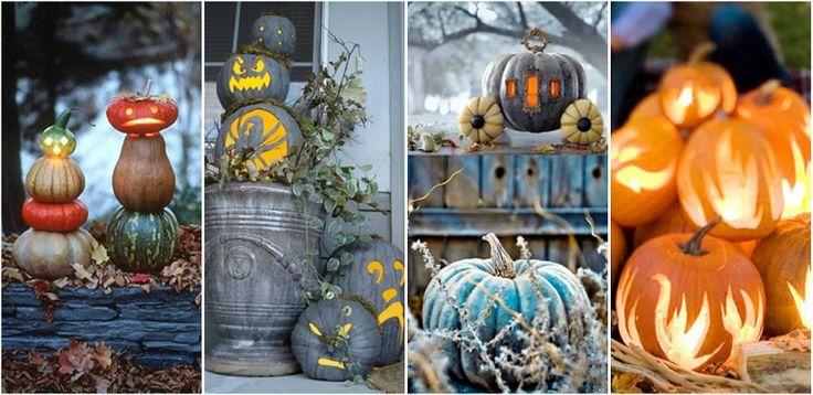 """Decoratiuni creative din dovleci - Halloween fericit! Decoratiuni creative:Atunci cand spunem """"Halloween"""", spunem """"decoratiuni din dovleci"""". Sarbatoarea se apropie cu pasi rapizi si noi trebuie sa fim pregatiti http://ideipentrucasa.ro/decoratiuni-creative-din-dovleci-halloween-fericit/"""