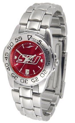 Southern Illinois Salukis Sport AnoChrome Ladies Watch with Steel Band by SunTime. $63.64. This handsome, eye-catching watch comes with a genuine leather strap. A date calendar function plus a rotating bezel/timer circles the scratch-resistant crystal. Sport the bold, colorful, high quality NCAA Southern Illinois Salukis logo with pride.The AnoChrome dial option increases the visual impact of any watch with a stunning radial reflection similar to that of the under...
