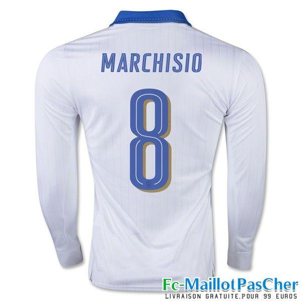le nouveau maillot de foot euro 2016 italie blanc manche longue marchisio 8 exterieur