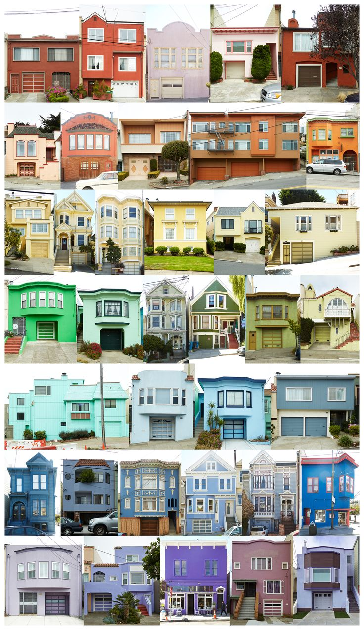 SF Houses Collaged into a Rainbow - The Bold Italic - San Francisco