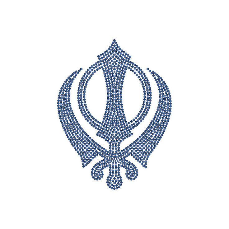 Gift Sikh Khanda Iron-on Diamante Motif