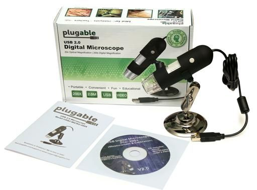 USB Microscope- up to 200X Digital Zoom and LED lights | Plugable