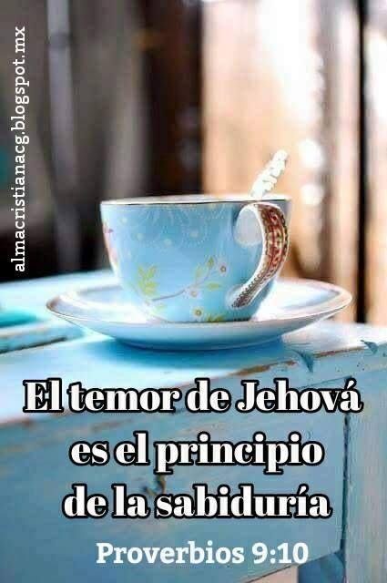 El temor de Jehová es el principio de la sabiduría, Y el conocimiento del Santísimo es la inteligencia.  Proverbios 9:10  ✿ Alma Cristiana ✿ ‿✿ ~ ✿⁀☆