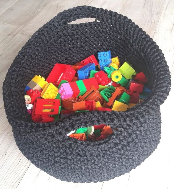 OPLOTKI kosz na zabawki poliestrowy