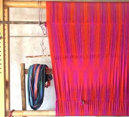 Work in progress of a beautiful Wayuu hammock (chinchorro)!  www.wayaarte.com