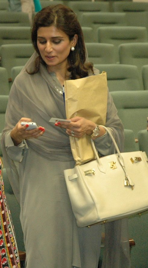 Bag Spotting: Hina Rabbani with her Birkin