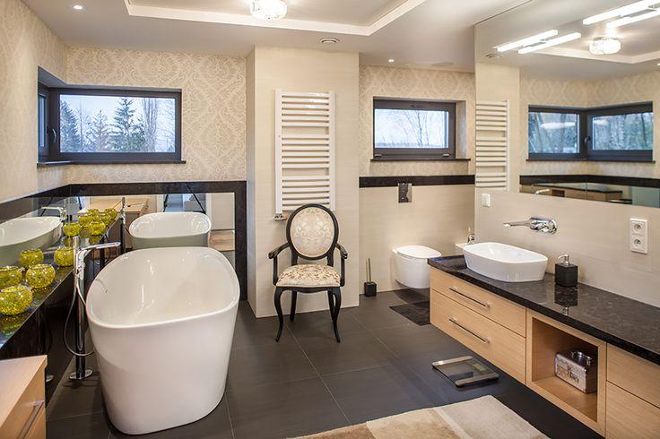 Stylowa łazienka - Aranżacja łazienki - Amarantowe Studio