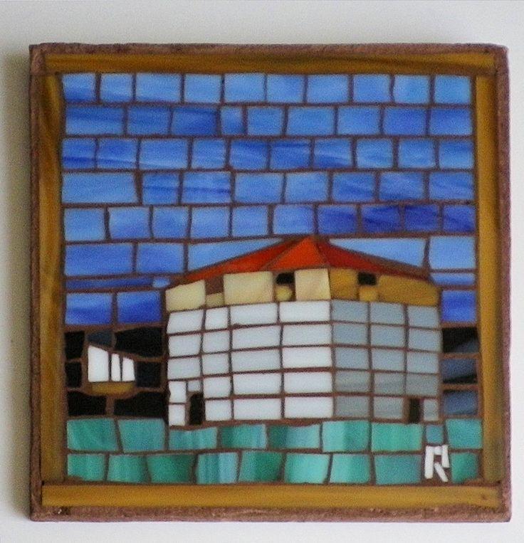 Martello Tower Mosaic FHEDA by LachanceGlassMosaic on Etsy