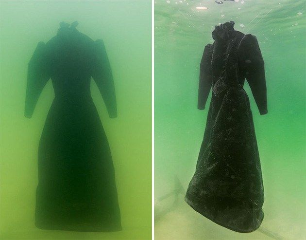 Black dress in dead sea xx