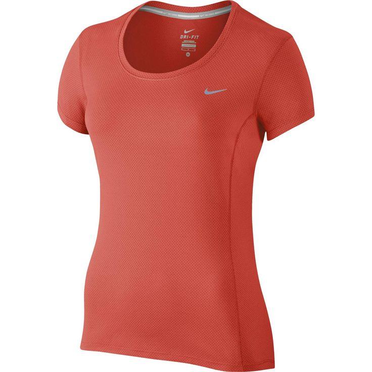 Nike Contour Dri-FIT Shirt  Description: Met het Dry Contour Running shirt van Nike ren je op je best doordat je droog en comfortabel blijft ongeacht hoeveel kilometers je hebt afgelegd. De top ventileert op de plekken waar jij het warmst wordt doordat het is vervaardigd met mesh materiaal. Door de Dri-FIT technologie wordt zweet snel weggevoerd van het lichaam en kun jij je route comfortabel afmaken in dit Nike shirt.  Price: 39.99  Meer informatie