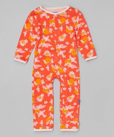 Another great find on #zulily! Poppy Orange Playsuit - Infant & Toddler #zulilyfinds