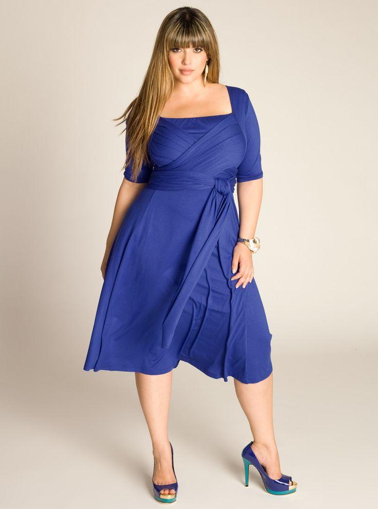 IGIGI Plus Size Tiffany Dress in Dazzling Blue