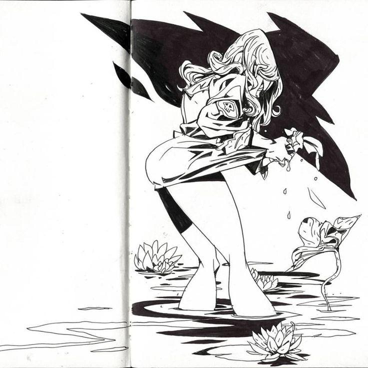 Camael in a deep pond, 강민정[KANGKOON] 아틈 강사 https://www.facebook.com/kanggoonart https://www.instagram.com/kanggoonart http://cafe.naver.com/arteum/3050