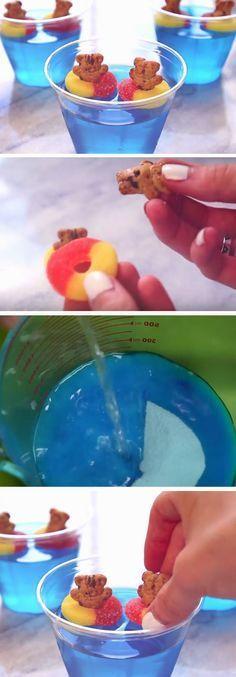 Teddies in The Pool | DIY Pool Party Ideas for Teens (luau party foods snacks)
