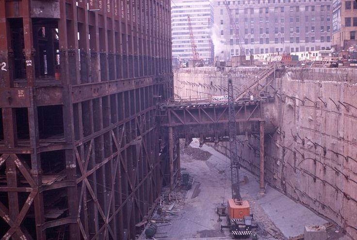 construction of the twin towers world trade center - wtc - america