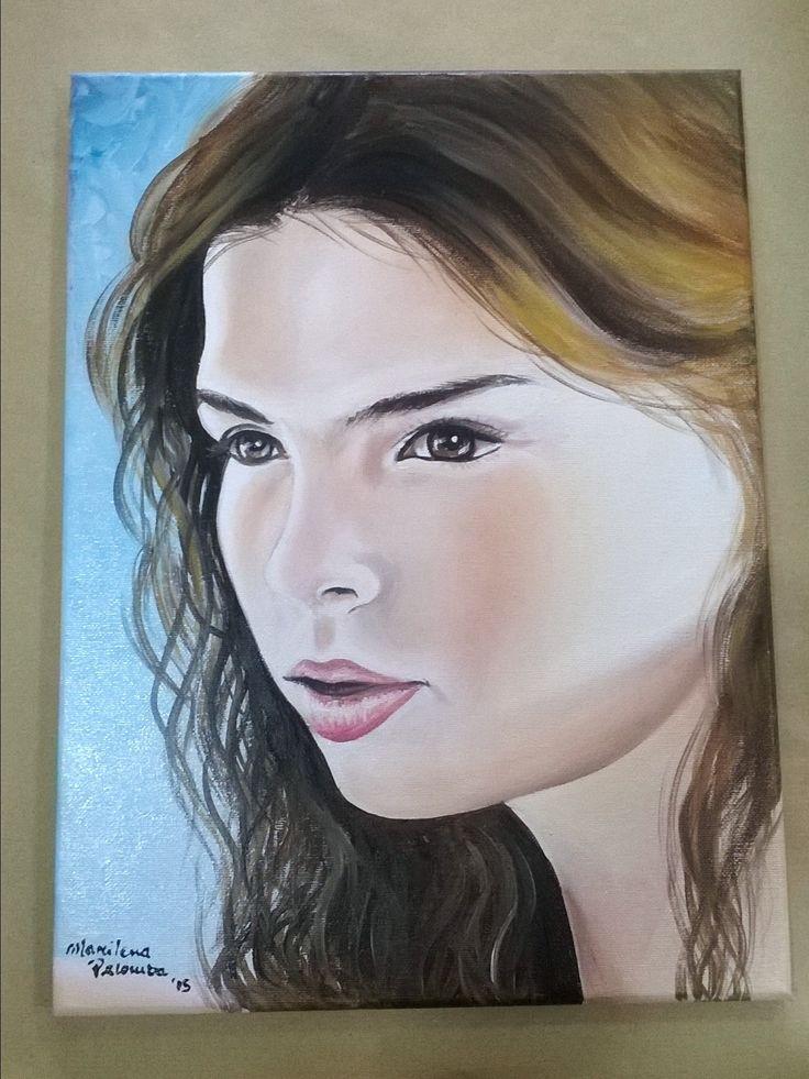 Ritratto dipinto a mano su tela 30x40. Marilena Palomba pittrice