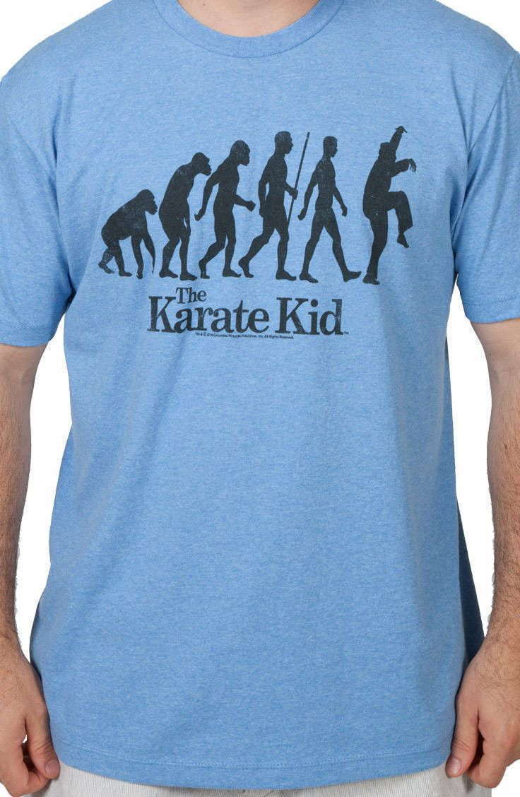 Evolution Crane Kick Karate Kid Shirt: Karate Kid Mens T-shirt