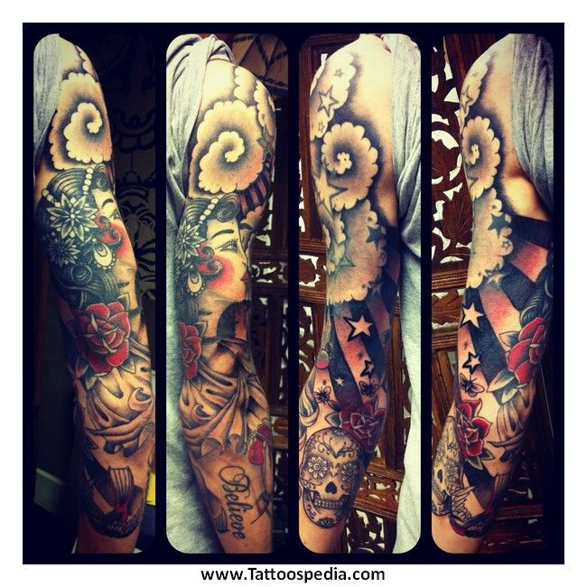 Tattoo Sleeve Filler Ideas For A Woman: 36 Best Tattoo Sleeve Fill In Ideas Images On Pinterest