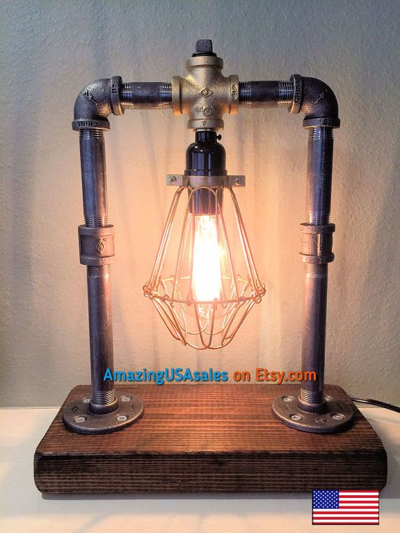 Edison Lamp - Industrial furniture - steampunk furniture - steampunk lamps - Edison light bulb - Bar light