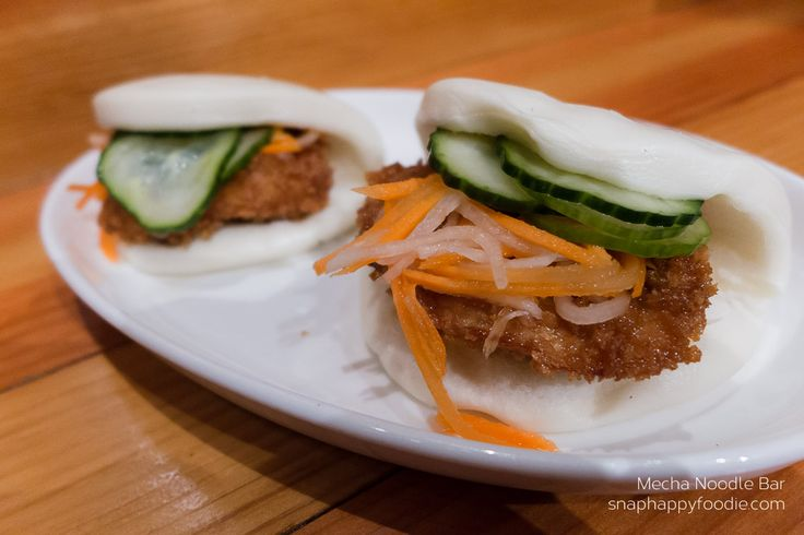 Korean Fried Chicken Steamed Bao from Mecha Noodle Bar in Fairfield, CT