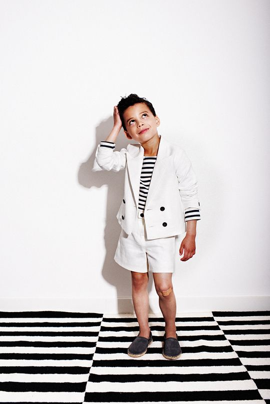 20 My Little Dress Up SS14 Oliver jacket - Donnie shorts Vanilla - 72 dpi