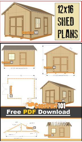 25 best ideas about shed plans 12x16 on pinterest free for Free shed design software with materials list