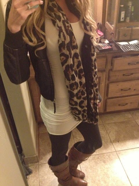 I love leggings with a long tunic and boots