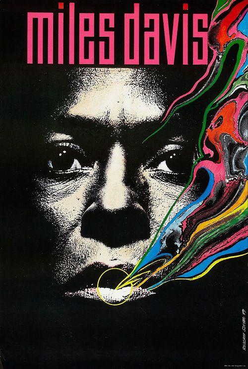 wandrlust: Polish Miles Davis Poster (1989) Designed by Roslaw Szaybo