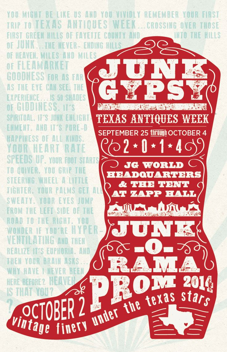 TX ANTIQUES WEEK POSTER FALL14 - Junk GYpSy co.