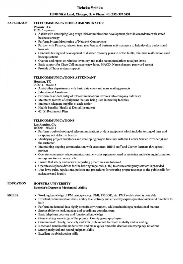 system analyst resume pdf